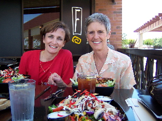 Vicki and Mayor of Clovis, California planning a leadership program over lunch.