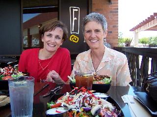 Vicki and Mayor of Clovis, California planning a leadership program over lunch.